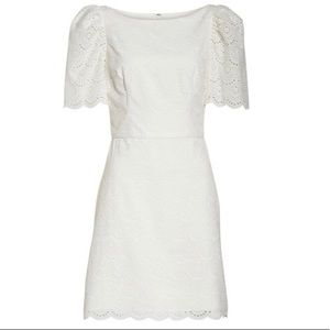 Gal Meets Glam Blythe Scallop Eyelet Dress NWT